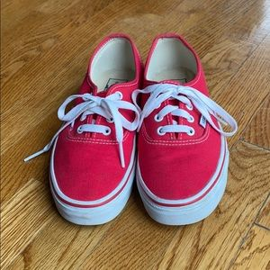 Red Vans - women's size 7.5